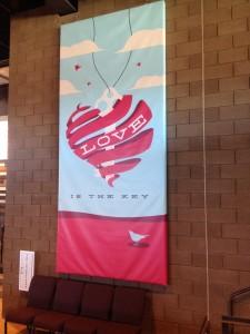 Custom Vinyl Art Banner for The Grove Church in Chandler