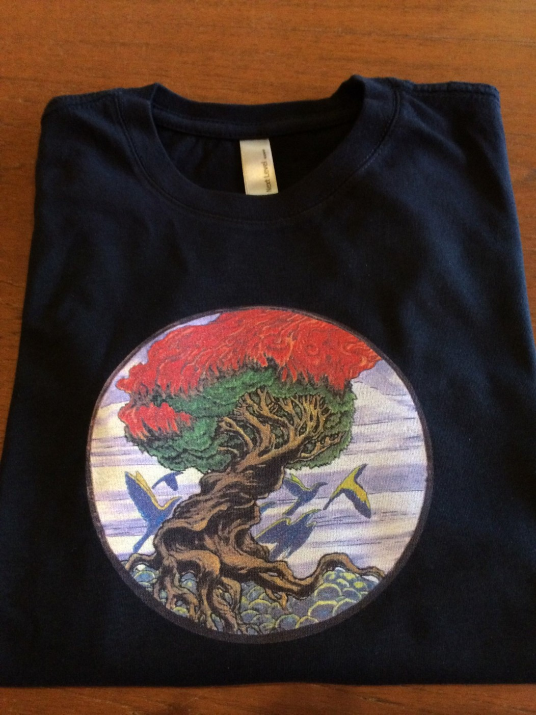 Burning Tree Art Print Direct To Garment Full Color T Shirt