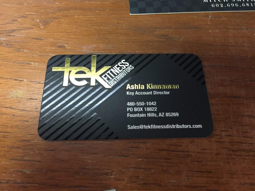 Portfolio categories business cards think printing graphics tek fitness distributors foil business cards colourmoves