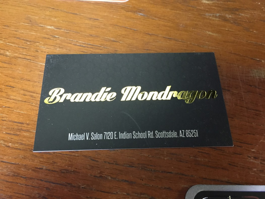 Brandie mondragon foil business cards think printing graphics tags business cards colourmoves