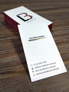 Copper Foiled Business Cards